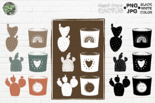 Print on Demand: Hand Drawn Cactus V6 Graphic Illustrations By Kiang Stock Digiart