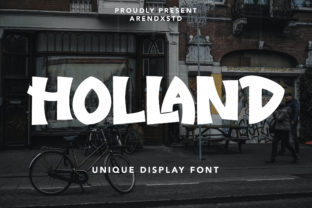 Print on Demand: Holland Display Font By Arendxstudio