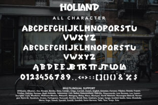 Print on Demand: Holland Display Font By Arendxstudio 9