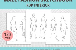 Print on Demand: Male Fashion Sketchbook KDP Graphic KDP Interiors By PrintablesCC