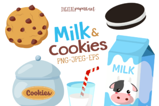 Print on Demand: Milk and Cookies Graphic Illustrations By DigitalPapers