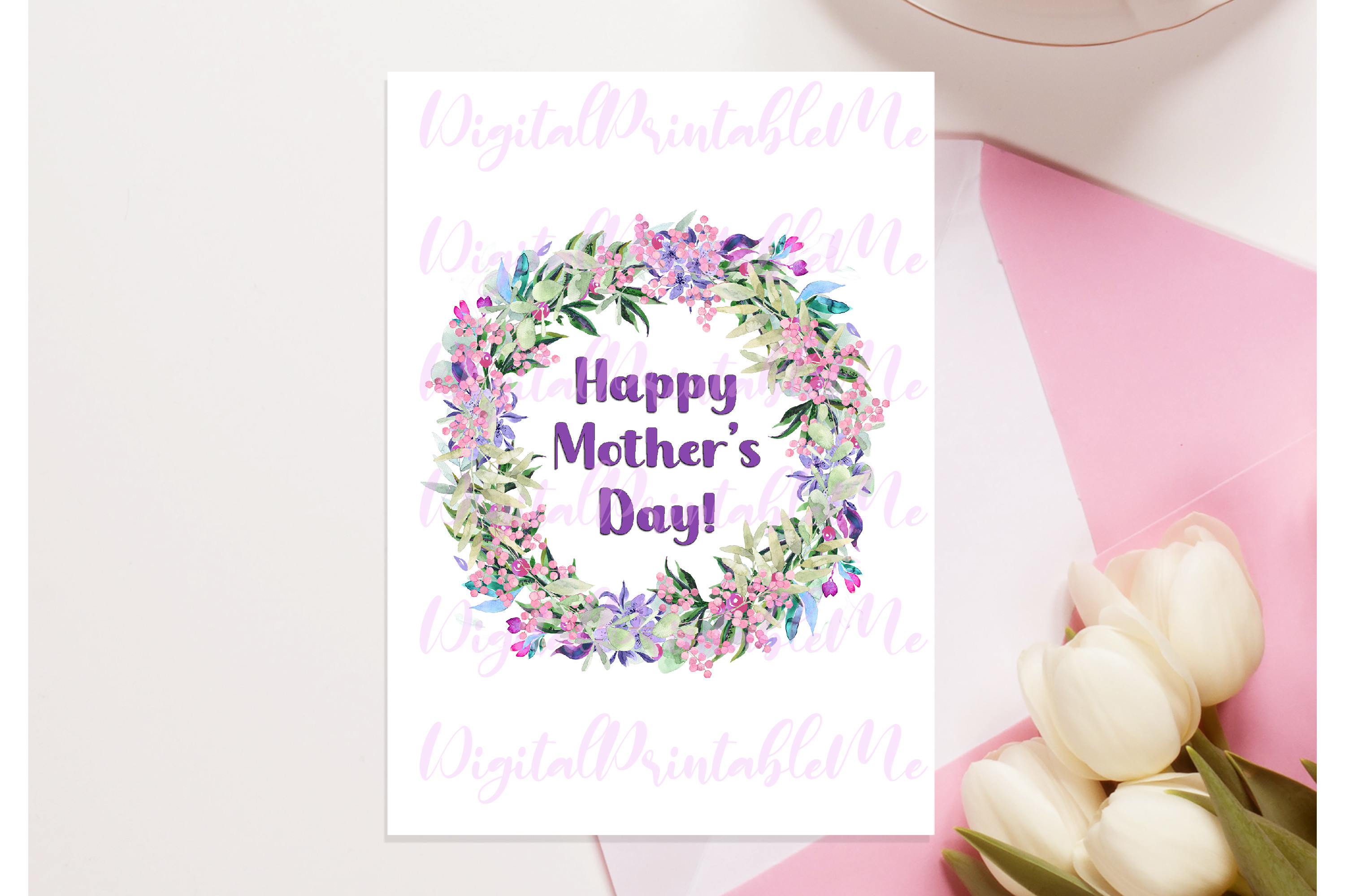 Mother's Day Card, Happy Mother's Day SVG File