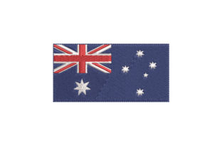 Print on Demand: National Flag of Australia Australia Embroidery Design By EmbArt