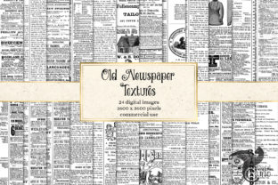 Print on Demand: Old Newspaper Textures Graphic Textures By Digital Curio 1