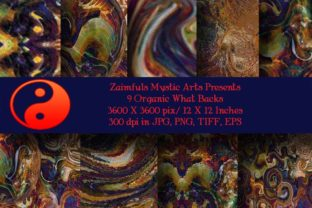 Print on Demand: Organic What Backgrounds Graphic Backgrounds By Zaimfuls Mystic Arts