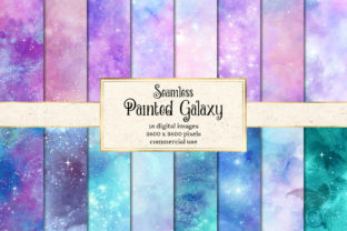 Print on Demand: Painted Galaxy Textures Graphic Textures By Digital Curio 1