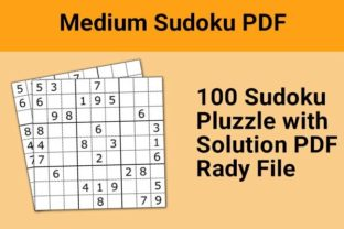 Print on Demand: Sudoku Puzzle with Solution KDP Graphic KDP Interiors By DigitalMGoods