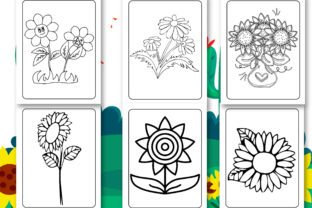 Print on Demand: Sunflower Coloring Book for Kids Graphic Coloring Pages & Books Kids By Tixxor-Global