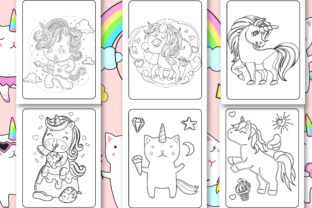 Print on Demand: Unicorn Coloring Book for Kids Graphic Coloring Pages & Books Kids By Tixxor-Global