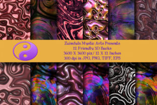 Print on Demand: 12 Friendly 3D Backs Graphic Backgrounds By Zaimfuls Mystic Arts