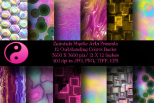 Print on Demand: 12 Outstanding Colors Backgrounds Graphic Backgrounds By Zaimfuls Mystic Arts