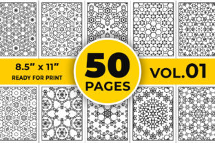 Abstract Coloring Book Page, Vol-01 Graphic Coloring Pages & Books Adults By designdraft