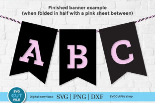 Bunting Alphabet Svg, Birthday Banner Graphic Crafts By SVGCutFile