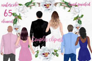 Print on Demand: Couples Clipart Wedding Couples Png Graphic Illustrations By LeCoqDesign 1