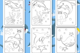 Print on Demand: Dolphin Coloring Book for Kids Graphic Coloring Pages & Books Kids By Tixxor-Global