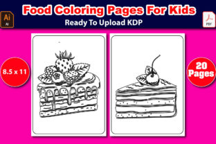 Food Coloring Pages for Kids Graphic Coloring Pages & Books Kids By Mahin_graphics