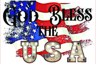 God Bless the USA PNG, Sublimation Graphic Illustrations By AlaBala