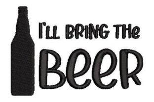 I'll Bring the Beer Anniversary Embroidery Design By Embroidery Designs