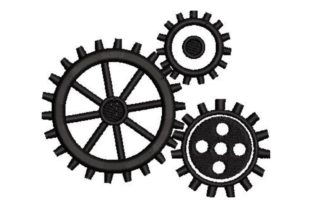 Interlocking Gears Shapes Embroidery Design By Embroidery Designs