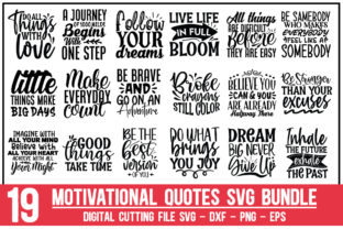 Print on Demand: Motivational Quotes Bundle Graphic Crafts By Designdealy