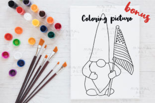 Print on Demand: Patriotic Gnomes Clipart SVG 4th July Graphic Illustrations By Momixzaa 3