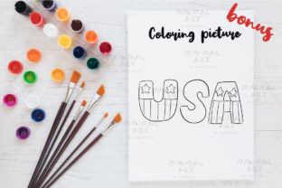 Print on Demand: Patriotic Gnomes Clipart SVG 4th July Graphic Illustrations By Momixzaa 4