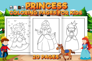 Print on Demand: Princess Coloring Pages for Kids Graphic Coloring Pages & Books Kids By Kristy Coloring