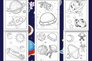 Print on Demand: Space Coloring Book for Kids Graphic Coloring Pages & Books Kids By Tixxor-Global