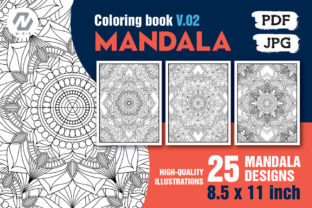 Print on Demand: 25 Mandala Coloring Pages Bundle Graphic Coloring Pages & Books Adults By nesdigiart