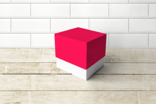 Cube Box with Lid SVG Graphic 3D SVG By RisaRocksIt