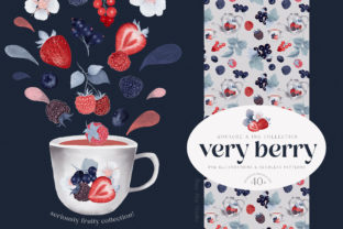 Print on Demand: Gouache Berries and Seamless Patterns Graphic Illustrations By Busy May Studio