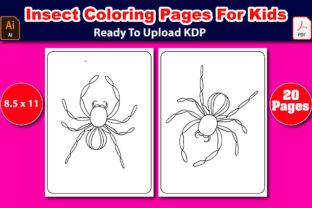 Insect Coloring Pages for Kids Graphic Coloring Pages & Books Kids By Mahin_graphics 1