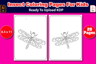 Insect Coloring Pages for Kids Graphic Coloring Pages & Books Kids By Mahin_graphics 3