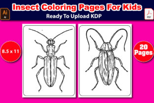 Insect Coloring Pages for Kids Graphic Coloring Pages & Books Kids By Mahin_graphics 2