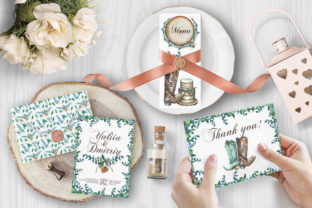 Watercolor Rustic Wedding Clipart Graphic Illustrations By rembrantd.ulya 6