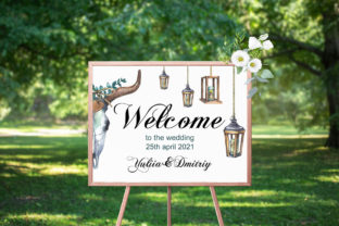 Watercolor Rustic Wedding Clipart Graphic Illustrations By rembrantd.ulya 8