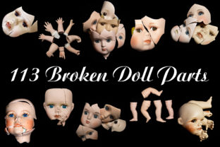 Print on Demand: 113 Broken Halloween Horror Doll Parts Graphic People By squeebcreative 1