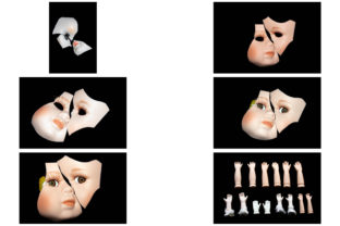 Print on Demand: 113 Broken Halloween Horror Doll Parts Graphic People By squeebcreative 16