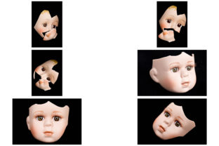 Print on Demand: 113 Broken Halloween Horror Doll Parts Graphic People By squeebcreative 5