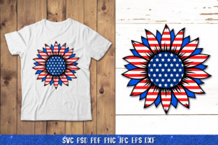 3D Sunflower 4of July Bundle Graphic 3D SVG By goodfox86 5