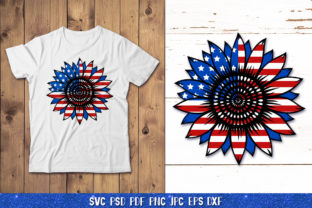 3D Sunflower 4of July Bundle Graphic 3D SVG By goodfox86 7