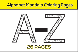 Print on Demand: Alphabet Mandala Coloring Pages Graphic Coloring Pages & Books Kids By infinity360