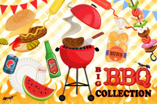 Big BBQ Cook-out Graphics Collection Graphic Illustrations By Dapper Dudell