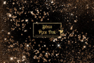 Print on Demand: Bronze Pixie Dust Overlays Graphic Illustrations By Digital Curio