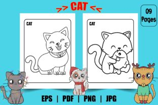 Cat Coloring Page for Kids Graphic Graphic Coloring Pages & Books Kids By Design Point