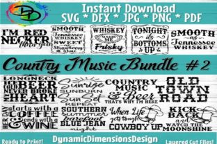 Print on Demand: Country Music Bundle 2 Graphic Print Templates By dynamicdimensions