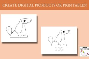 Print on Demand: Cute Pets Coloring Pages Graphic Coloring Pages & Books Kids By Janet's Cute Designs 2