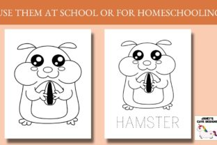 Print on Demand: Cute Pets Coloring Pages Graphic Coloring Pages & Books Kids By Janet's Cute Designs 3