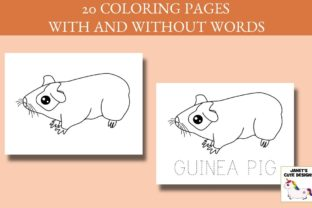 Print on Demand: Cute Pets Coloring Pages Graphic Coloring Pages & Books Kids By Janet's Cute Designs 4