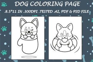Dog Coloring Page 1 - Kdp Interiors Graphic Coloring Pages & Books Kids By Kdp Speed